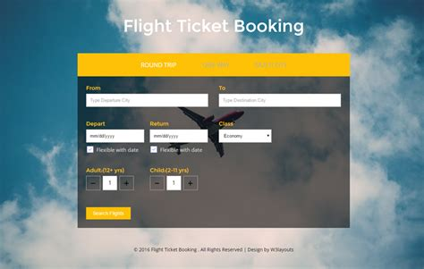 flight booking template flight ticket booking a flat responsive widget template