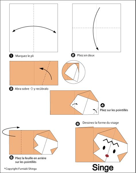 Origami Monkey Easy - easy origami monkey 28 images paper origami monkey