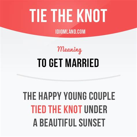 Theyve Already The Knot by Quot You The Knot Already Quot Idiom With Its