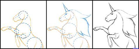 unicorn step by step how to draw a unicorn black unicorn step by step