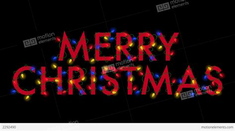 merry christmas lights red stock animation