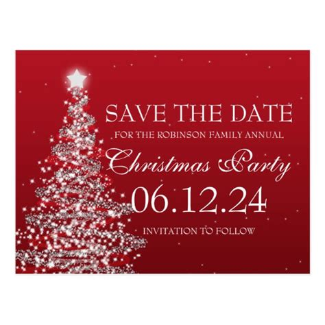 save the date holiday party free template save the date postcard zazzle