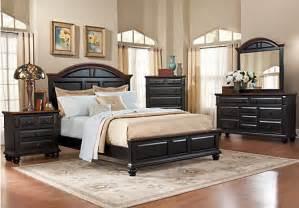 Rooms To Go Bedroom Sets Queen Berkshire Lake Black 5 Pc Queen Panel Bedroom Bedroom