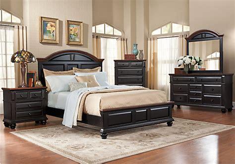 berkshire lake black  pc queen panel bedroom bedroom sets black