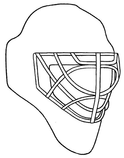 coloring pictures of hockey goalies printable goalie mask coloring page coloringpagebook com