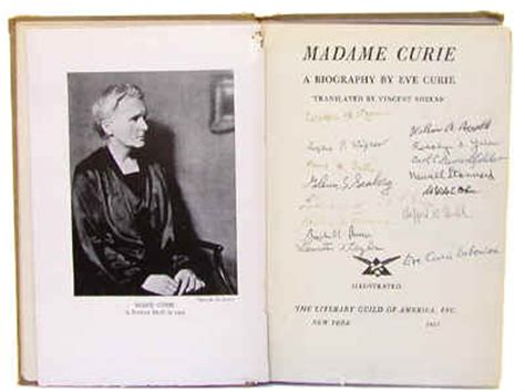 madame curie biography in english autographed biography of marie curie