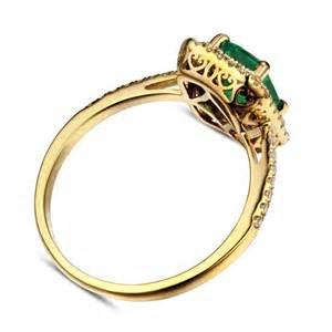 designer 2 carat emerald and halo