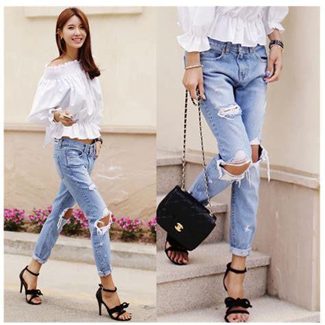 stylish jeans for girls designer women jeans model harstely ᗐdenim jeans pants women ჱ big big hole ripped designer