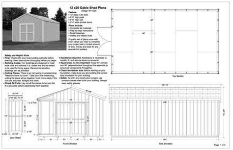 Free Shed Blueprints 12x20 by 12x20 Shed Plans Learn How Desk Work