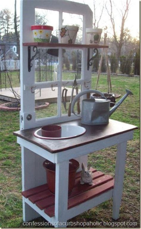 old door potting bench potting benches repurposed and doors on pinterest