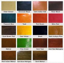 different color stains introduction to wood stains in india indian woodworking