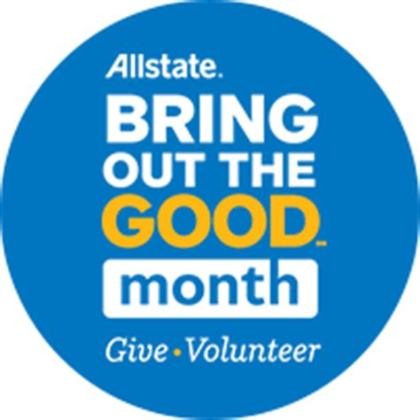allstate employees partner together for bring out the good