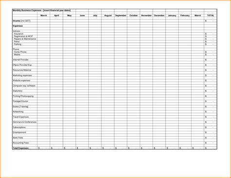 Excel Spreadsheet Template Business Expenses Expense Tracking Template 7 Download Free Schedule C Expenses Template