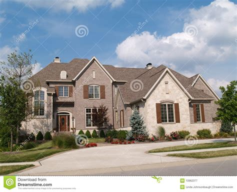 Two Story Home Two Story Brick And Home Royalty Free Stock Photography Image 10962377