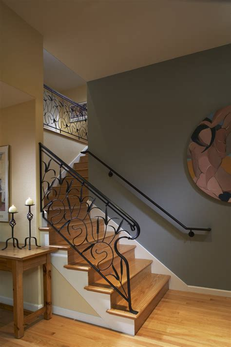 Accent Wall Staircase by Stupendous Staircase Railing Decorating Ideas For