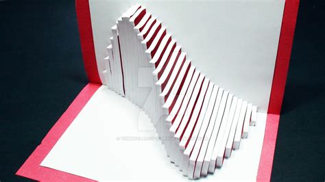 How To Make A Paper Pop Up - how to make a wave pop up card kirigami 3d by