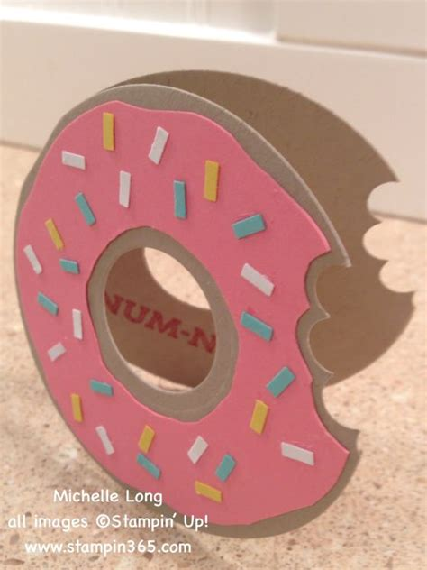 Free Thank You Card Templates Donut by Handmade Card Shaped Like A Doughnut Die Cut With Two