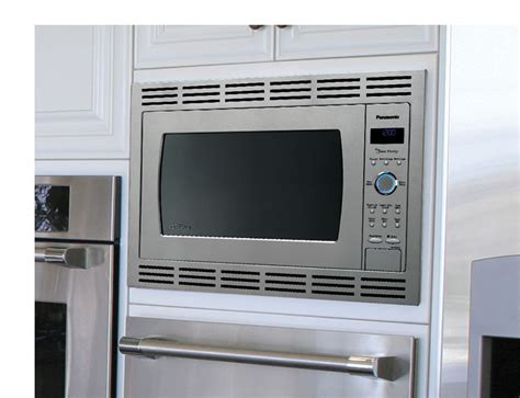 Can A Countertop Microwave Be Built In by Panasonic Nn Sd762s Stainless 1250w 1 6 Cu Ft Countertop Built In Microwave With