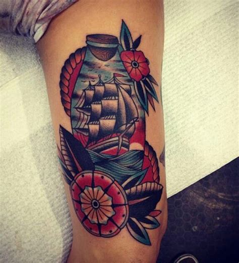 traditional ship tattoos designs ideas and meaning