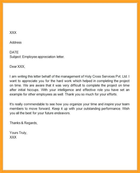 thank you letter for an employee award employee recognition write up exles sles of awards
