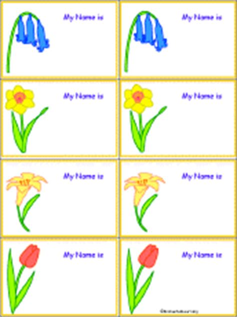 penguin nametags to print in color enchantedlearning com flower name tags to print flowers at enchantedlearning com