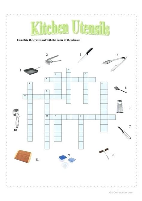 Kitchen Utensil Crossword by Kitchen Utensils Crossword Puzzle Clue Ppi