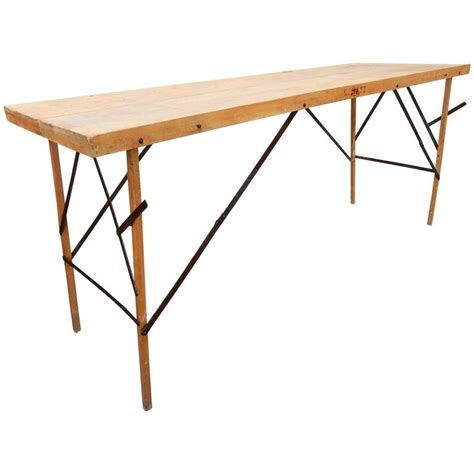 Desk Table For Sale by 1930s Industrial Wallpaper Hangers Folding Table Or Desk