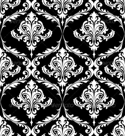black and white pattern vintage black and white vintage damask pattern graphicriver