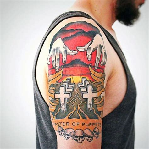 metal tattoos 60 metallica tattoos designs for heavy metal ink ideas