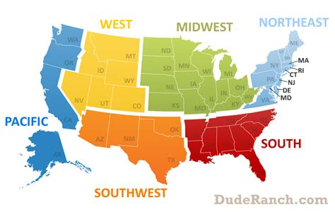map usa midwest region northeast info pics maps more dude ranch