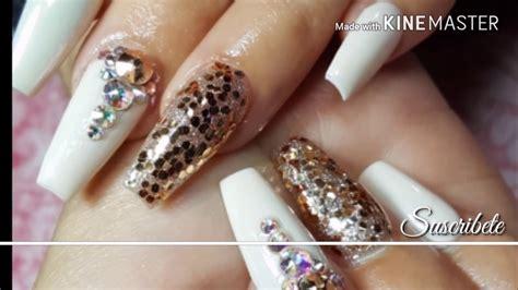 imagenes de uñas acrilicas con swarovski u 241 as acrilicas para graduaci 243 n 2017 prom nails youtube