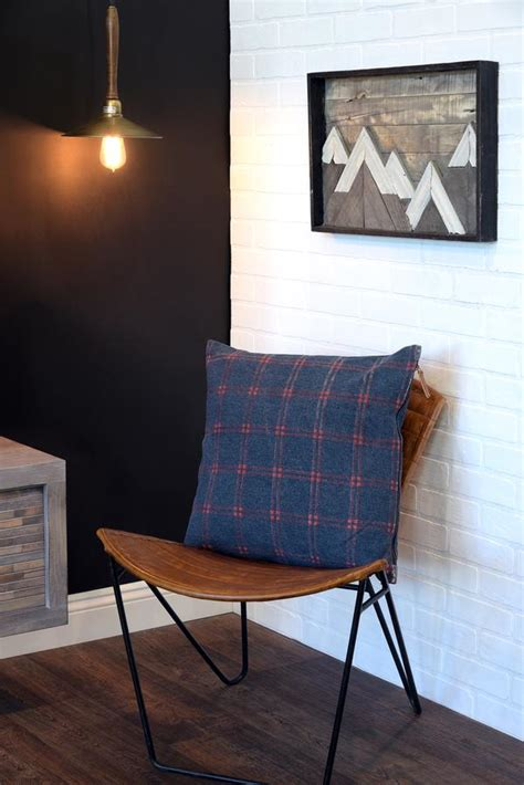 industrial modern iron  leather accent chair woodwaves