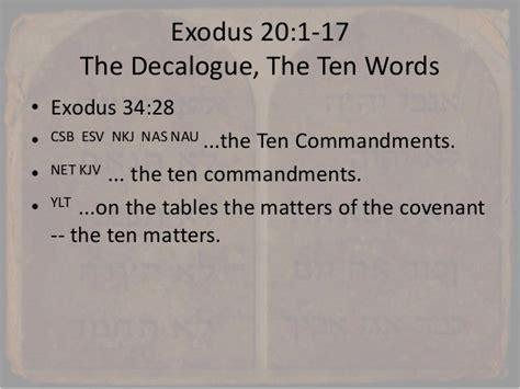 exodus  work   sabbath  decalogue  ten