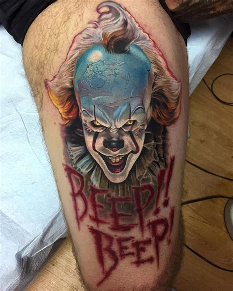payaso tattoo designs pennywise by tony sklepic tattoos ideas tatuaje