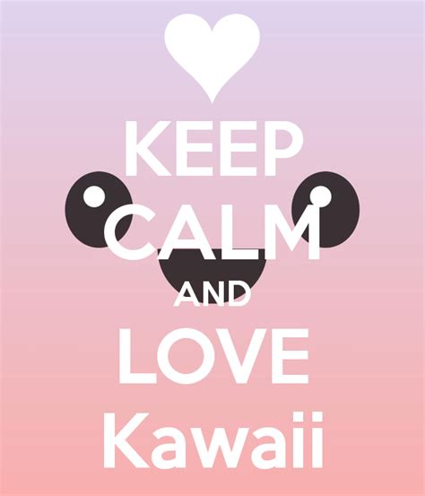 Wall Stickers Love keep calm and love kawaii keep calm and carry on image