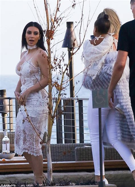 Kr1442 Oudre Lace Top With Inner By Khloes Room Atasan Brokat shows post baby at disick s birthday daily mail