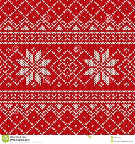 holiday pattern texture christmas sweater design seamless knitting pattern stock