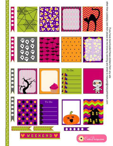 free printable halloween planner stickers free printable halloween stickers craftbnb