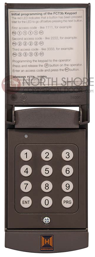 hormann garage door openers hormann garage door opener wireless keypad fct3b 315
