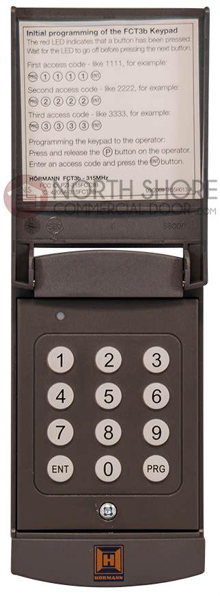 hormann garage door opener wireless keypad fctb