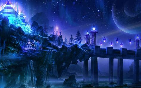 wallpaper blue fantasy fantasy pics wallpapers wallpaper cave