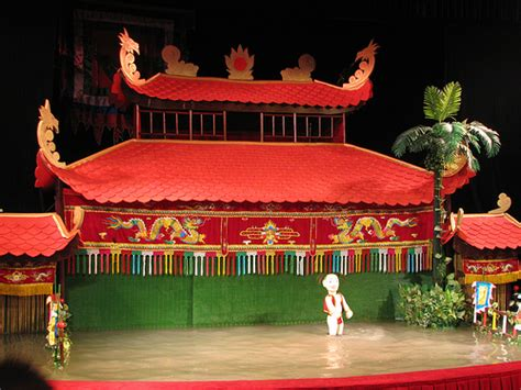 thang long water puppet theatre  hanoi show schedules