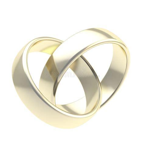 Eheringe Verschlungen Clipart by Zwei Ringe Der Goldenen Hochzeit Getrennt Stockbilder