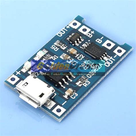 Modul Usb Charger jual 5v 1a micro usb to lithium battery charging module