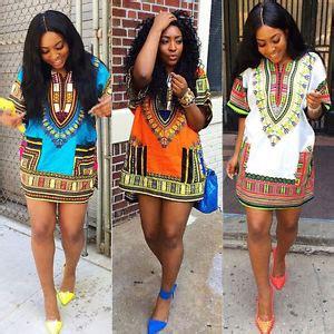 Fashion Women's Traditional African Print Dashiki Dress