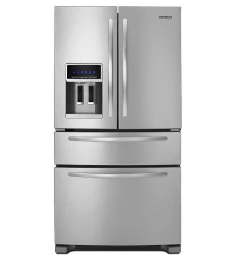 kitchenaid refrigerators door 24 cu ft standard depth four door door