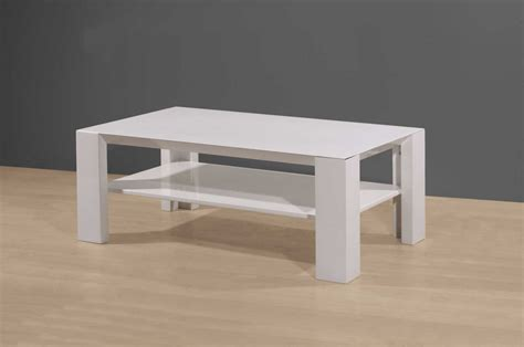 Table Basse Blanc Laquee Pas Cher