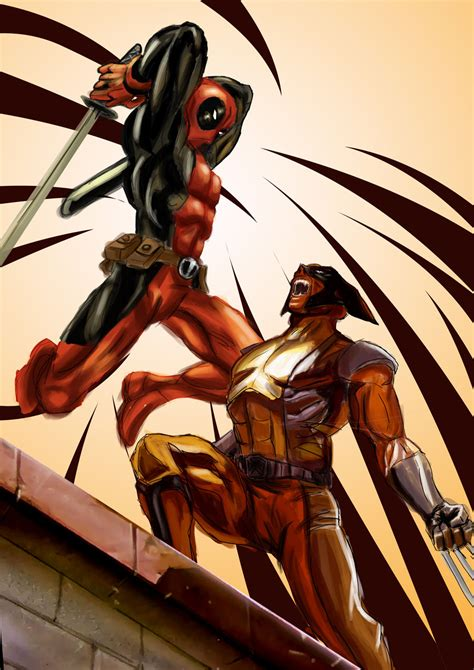 wolverine deadpool looking for the artist this to ask permission to
