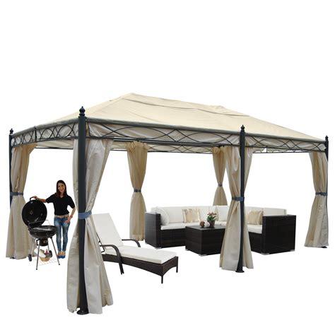 pavillon mit moskitonetz pergola calpe garten pavillon stabiles 7cm gestell 5x3m