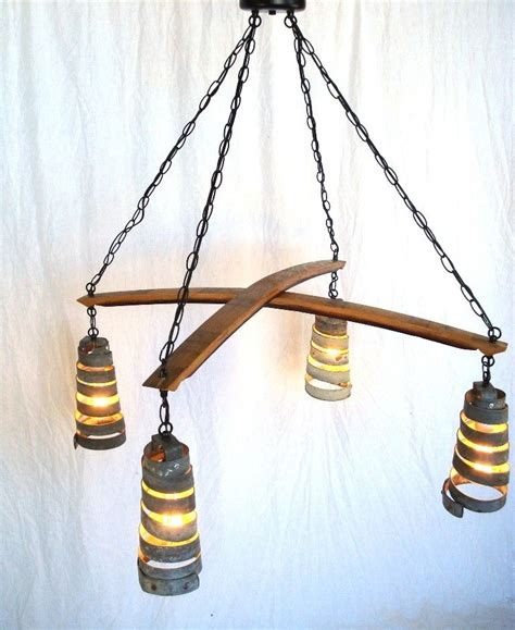 Wine Barrel Ring Chandelier Buy A Made Stave Cross Quot Intersect Quot Wine Barrel Ring Chandelier 100 Recycled Made To